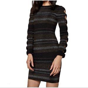 Ted Baker Simona Lurex Bow Sleeve Bodycon Dress,10